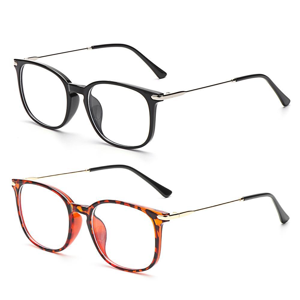 1 pc Anti Anti Blue Ray Computer Óculos Mulheres Quadrado Olho De Vidro Homens Azul Luz Bloqueando Gaming Eyewear Quadros ópticos grandes grandes 2021 J0223
