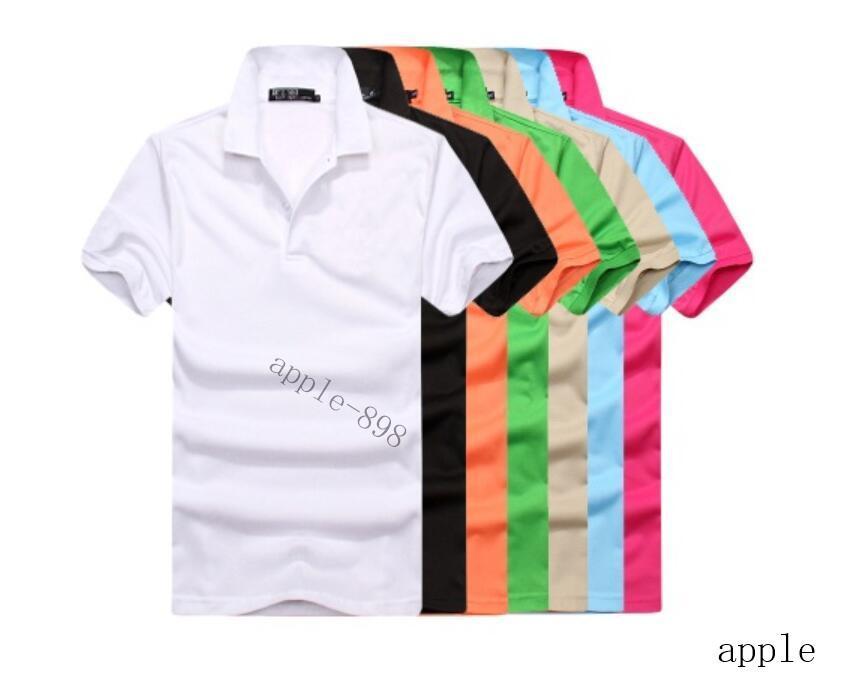 Alta Qualidade Crocodilo Polo Camisa Homens Solid Cotton Shorts Polo Verão Casual Polo Homme camisetas Pólos Mens Camisas PoloShirt