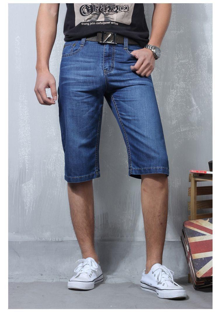 2021 Mann Pocket Cargo Mode Knie-hohe Shorts dünne Sommerstrumpf Jeans Ladungshosen Hosen LM7L