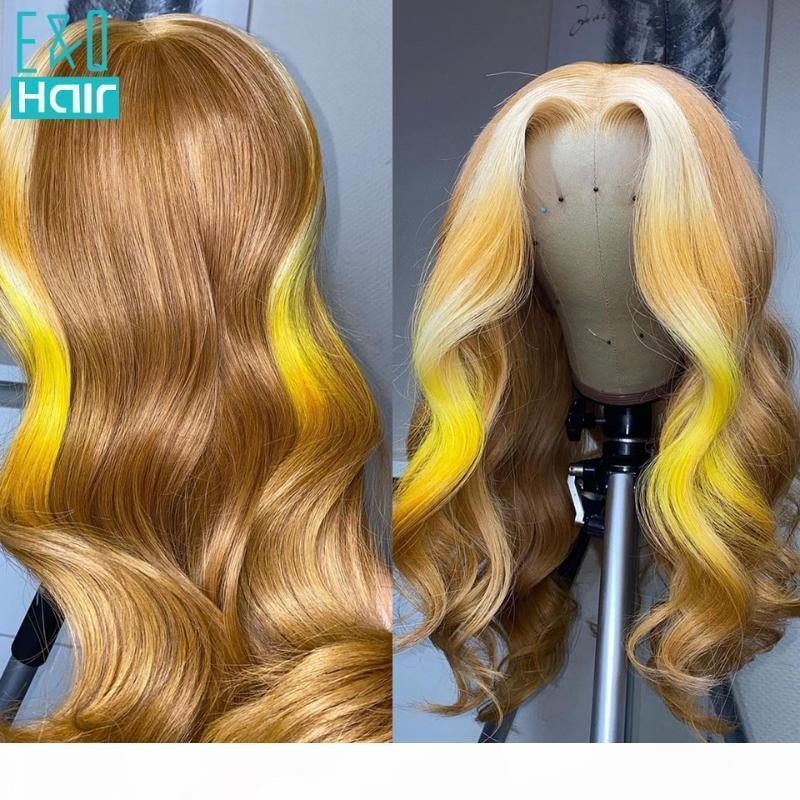 180% медовые блондинки Оммре цветные 13x4 кружева фронт человеческих волос для чернокожих женщин предварительно сорванный бразильский реми
