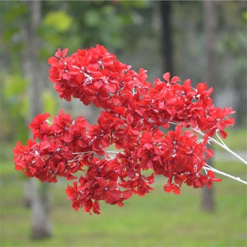 Silk Gypsophila Artificial Flores para Decoração Home Plástico Haste Noiva Bouquet de Casamento Mariage Flor De Cerejeira Flor Falsa DIY ZZE5159