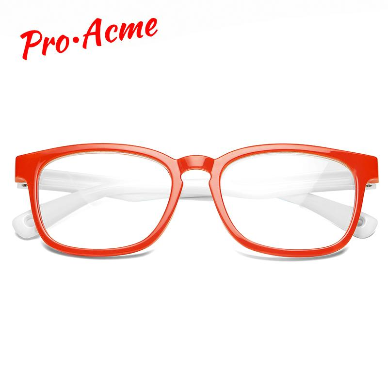 Pro Acme Luz Blue Bloqueando Óculos Crianças TPEE Óculos Flexíveis Quadro Computador Jogos De Computador Para Meninos Meninas Idade 3-12 PC1608 J0223