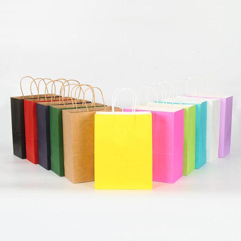 Горячие Продажи 9 Цветов Оптом Стоковая стока и Индивидуальный дизайн Человек Женщина Крафт Покупки Бумага Носитель Сумка Бумага Подарочная Сумка с ручками Для Женщины