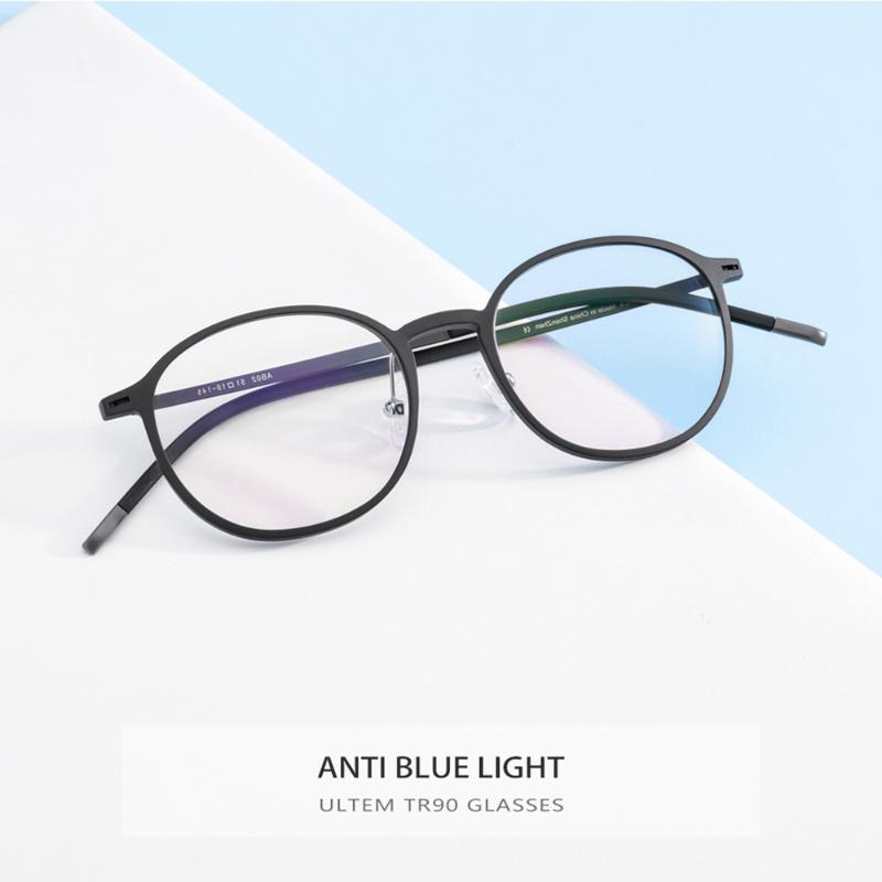 TR90 Anti Blue Light Glasses Men Eyewear Eyeglasses Spectacles Optiacl Gaming Computer Round Frame Women JDA3117