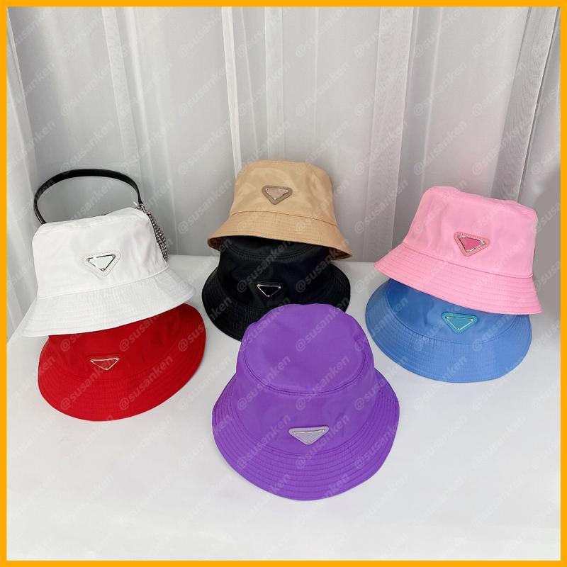2021 여름 유행 양동이 모자 여성 남성용 모자 나일론 Luxurys 디자이너 모자 모자 망 보닛 카펠리 엉덩이 Mütze Beanies Sun D2106102L
