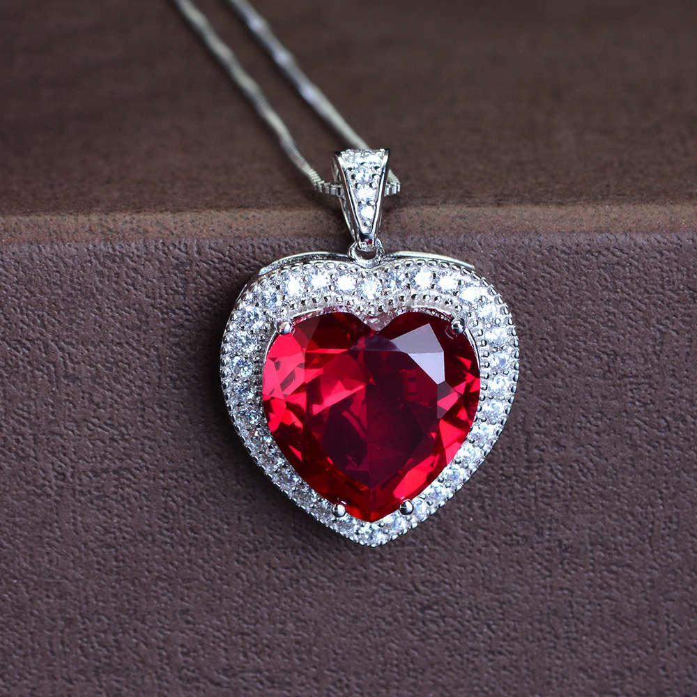 Hbp Shipai Jewelry Novo Zircon Coração Colar Feminino Moda Clavícula Chain Pingente