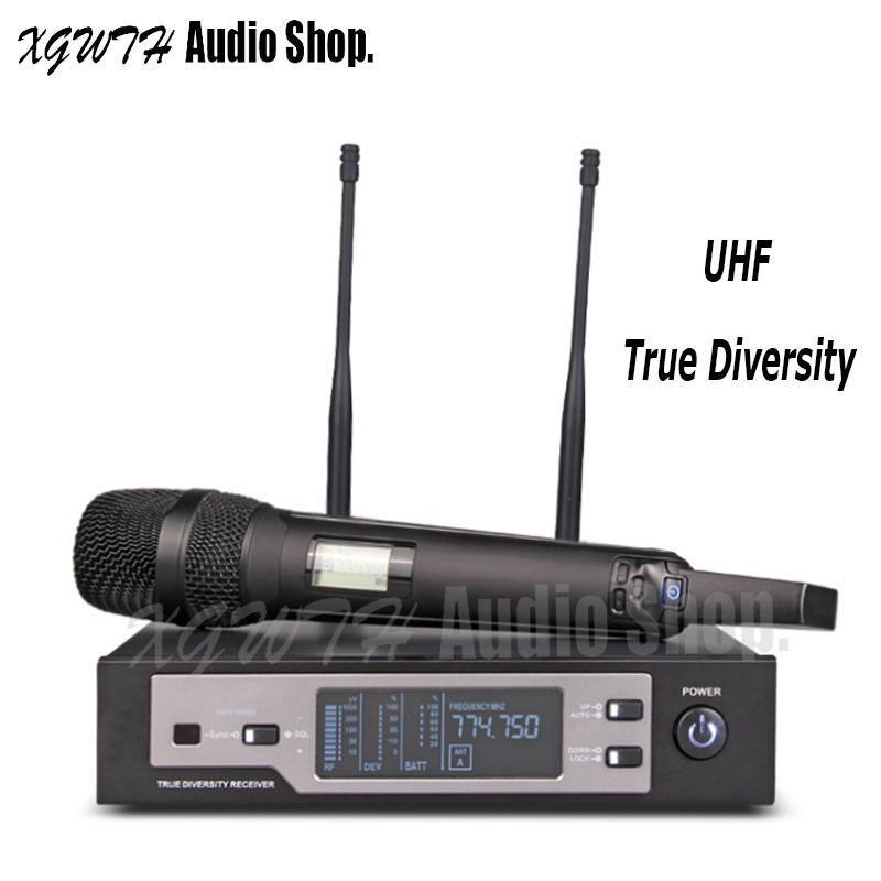 Dijital Gerçek Çeşitlilik UHF Kablosuz Mikrofon Sistemi SKM9100 Dinamik Süper Cardioid Sahne DJ Için El Mic Profesyonel