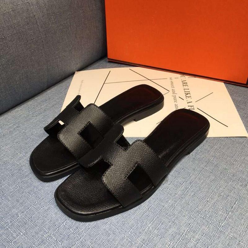 Hermes sandals Clásico Nuevas señoras Sandalias Damas Ladies Slippers Summer Luxury Casual Slippers Flip Flops Flat Beach Shoes