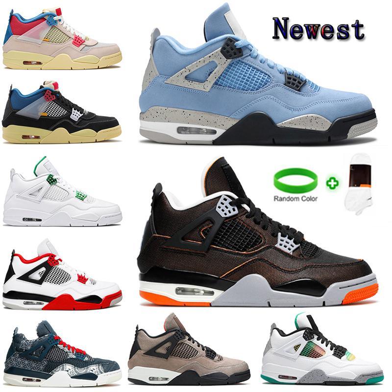 [Kutu ile]  Air Jordan 4 x Off-White shoes  Bio Hack Union 4 4S Concord Bred 11 11s Jumpman Erkek Basketbol Ayakkabıları Koyu Mocha Guava Buz Alanı Reçel Spor Ayakkabı
