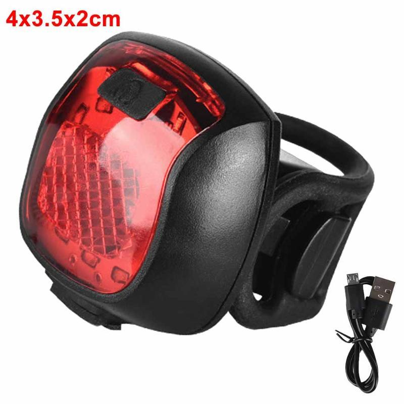 Bike Lights LED Bicycle Rear Light 5-Modes MiniBicycle Tail USB Rechargeable Lamp Warning Night Taillight Parts