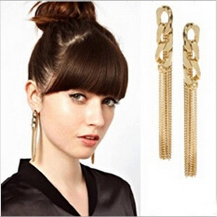 귀걸이 나이트 클럽 패션 체인 긴 귀걸이 여성 특별 술 디자인 이우 쥬얼리