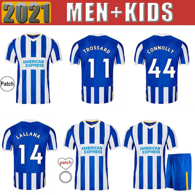 Hombres Hove Soccer Jerseys 2021 Maupay Tronsard Connolly Murray Maillot de Foot 20 21 Camisa de fútbol adulto y niños