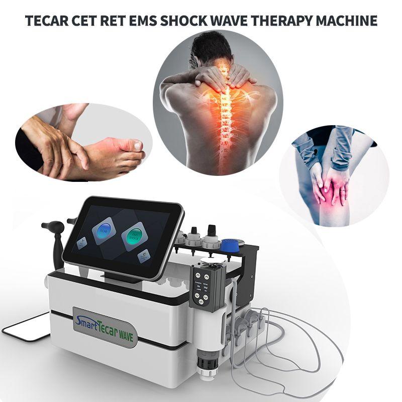 3 in 1 Tecar CET Ret EMS Shock Wave Terapia RF Attrezzatura per rilievi antidolorifici ED TRATTAMENTO BUSURMENO BUSURMENTE BUSIN