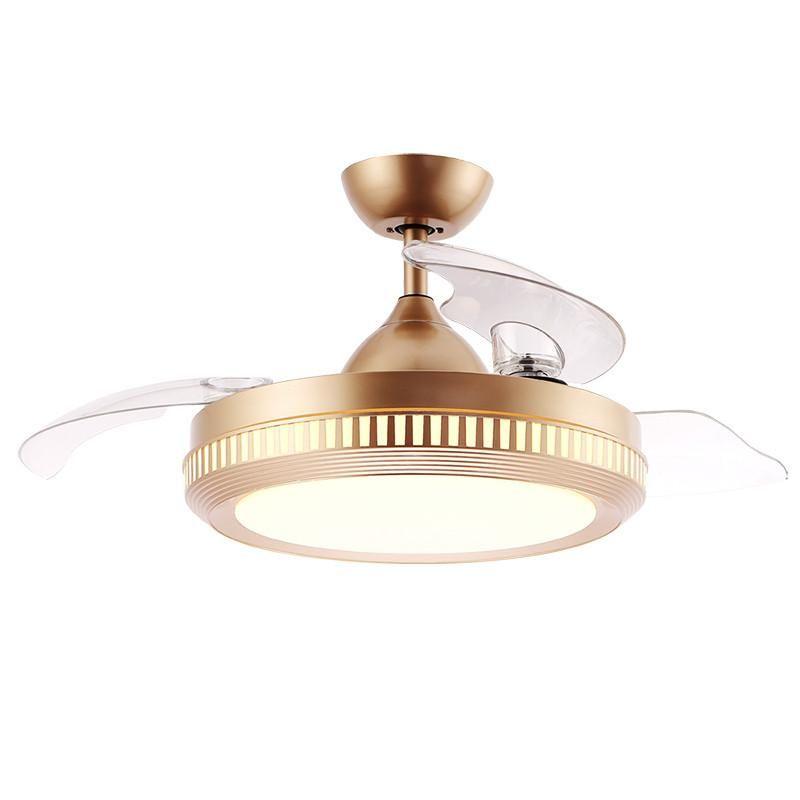Качество Изысканное мастерство Декоративное освещение энергосберегающие лампы скрытые складные BLDC светодиодный потолочный вентилятор высокого качества потолочный вентилятор