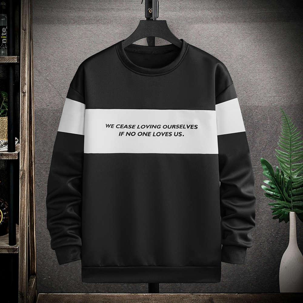 2021 Новый Молодежный свитер Мужской весна и осенью молодежь длинные толстовки мужские корейские моды свободно изучение экипажа