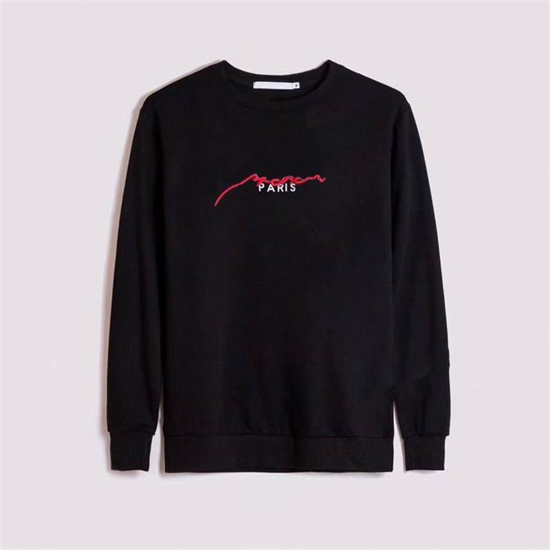 2021 Yeni Hoodies Moda Erkekler Sonbahar Kış Mektubu Baskılı Uzun Kollu Tişörtü Erkekler Paris Spor Kadınlar Jumper Giyim