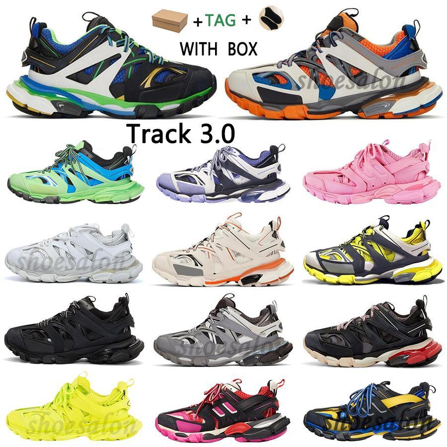2021 파리 3.0 트랙 S 신발 Clunky Triple Sneakers 남성 여성 화이트 핑크 3M 회색 베이지 오렌지 블루 플랫폼 Tess 18SS 업데이트 버전 디자이너 스포츠 스니커