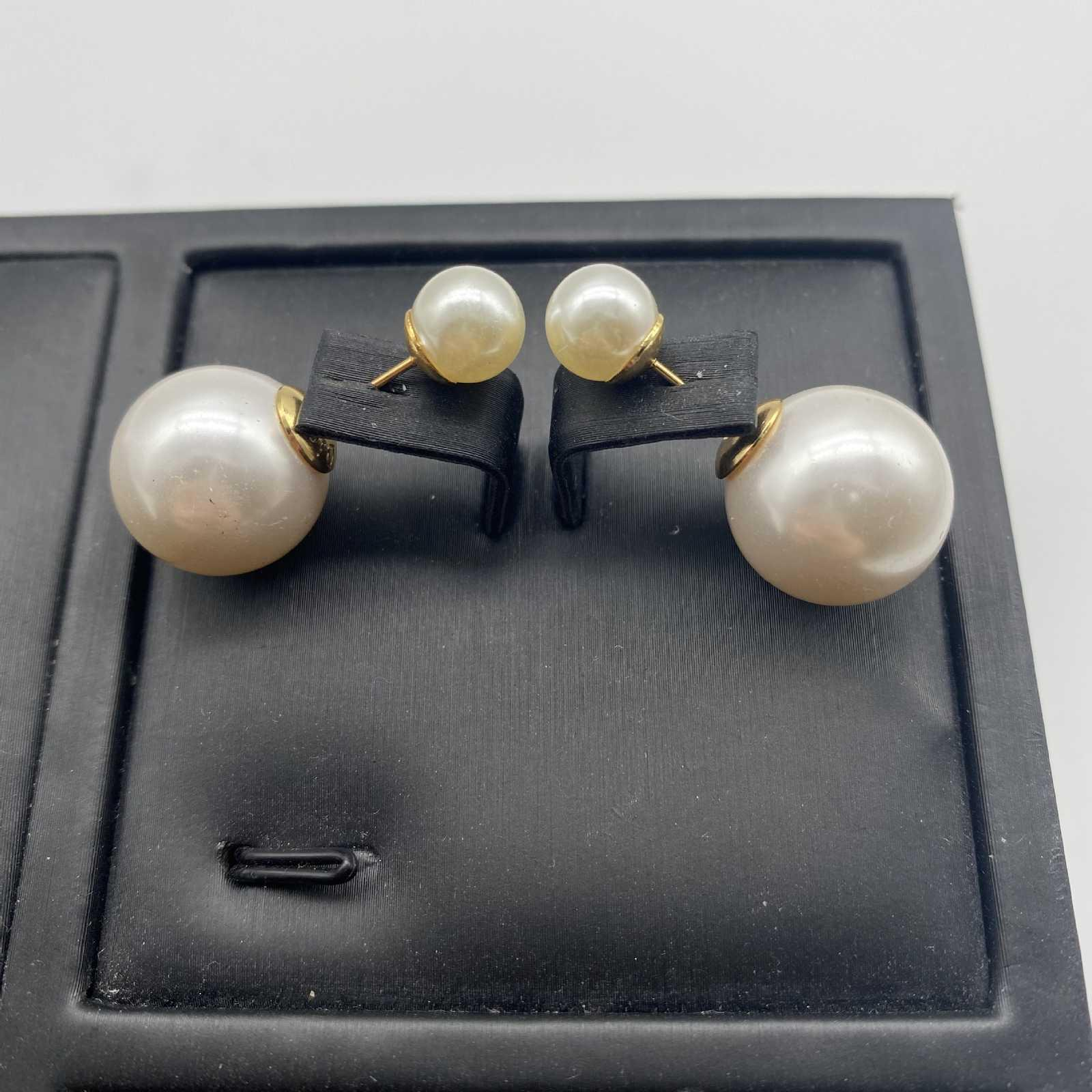 Dijia 2021 Klassische Perle Kleine Duft Ohrringe für Damen4IYI