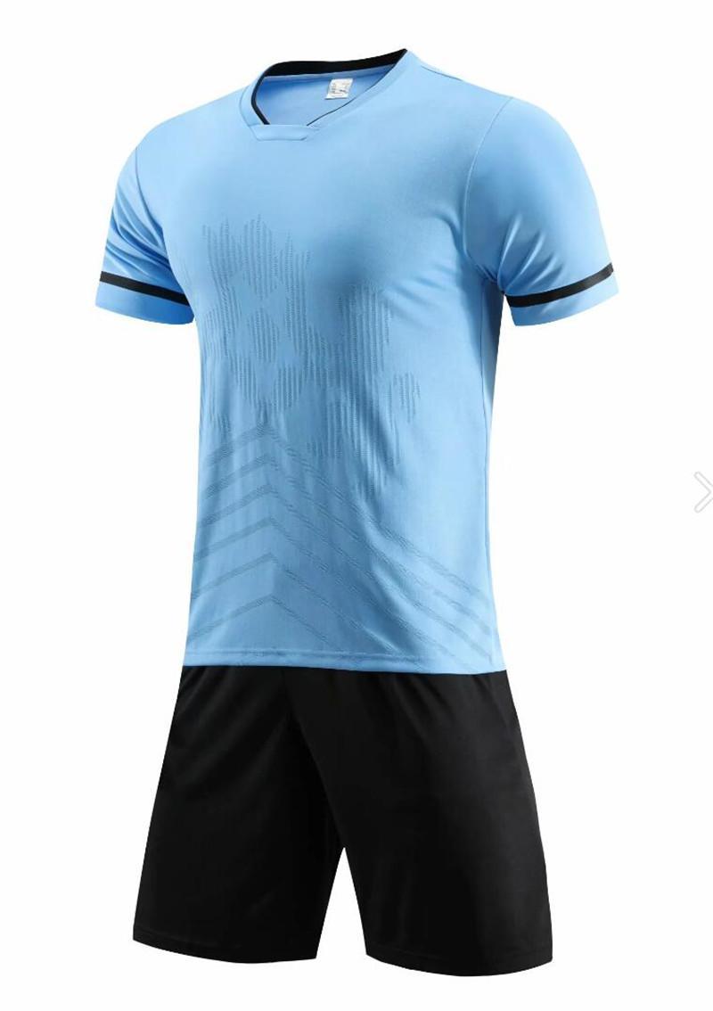 0097 Hommes Chemise de football Kits Jersey Soccer Jersey Taille adulte Taille courte Ensemble Ensemble de succursales jogging