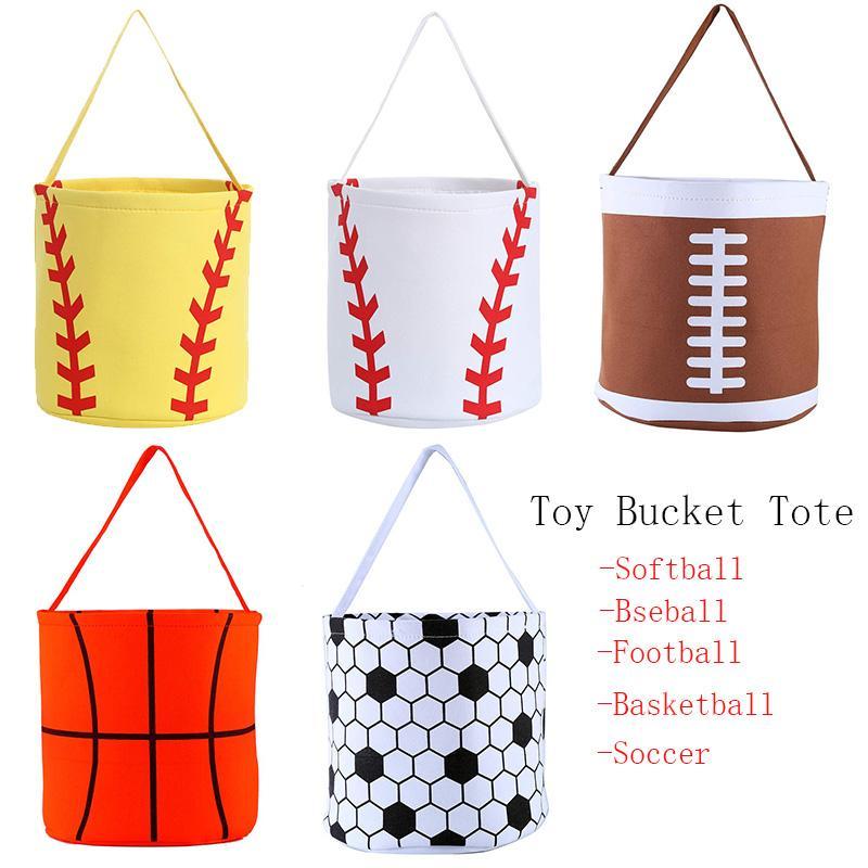 Бейсбольная корзина Пасхальная корзина Пасхальные яйца Охота Сумка для детей Candy Подарочная игрушка Ведро Tote