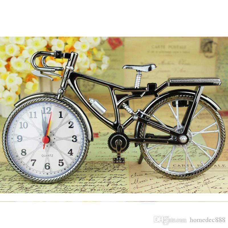 الجدول المنبه دراجة شكل ساعات المنزلية الإبداعية الرجعية العربية الأرقام المنبه التنسيب ديكور المنزل لوازم هدية DH0733