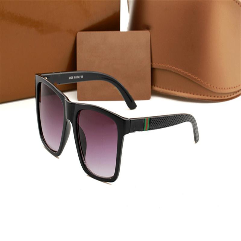 Diseñador de lujo gafas de sol hombres anteojos tonos al aire libre PC Frame Fashion Classic Lady Gafas de sol Espejos para mujeres