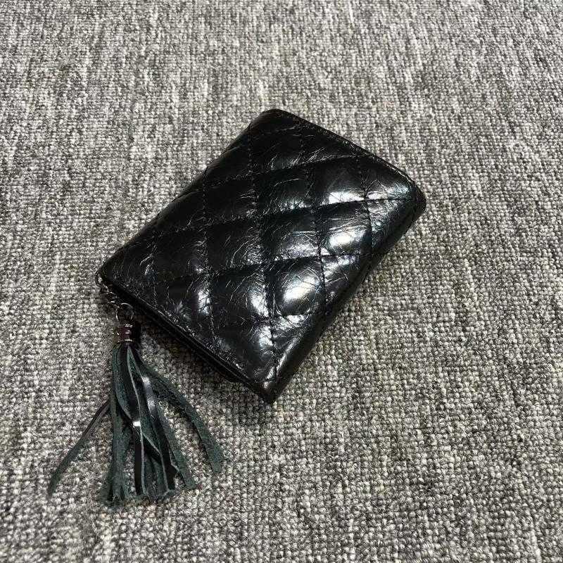 Feito primeiro couro de couro de couro de couro rômbico. O interior e fora da bolsa é para mulheres com CH curta