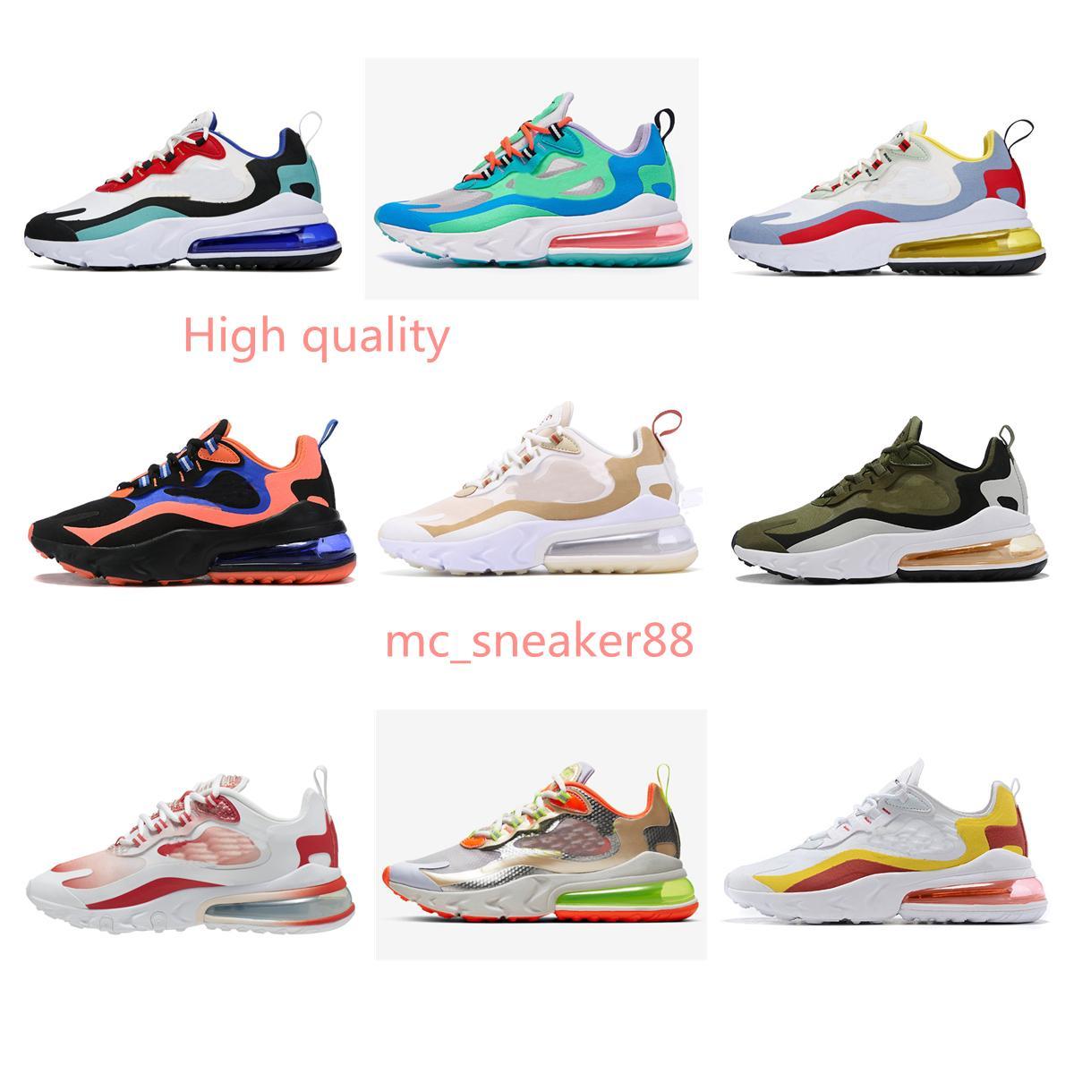 2021 Männer Frauen Outdoor Schuhe Verkauf Top Qualität Reaktion Koralgradient Colorway Kostenloses Triple Balck Bauhaus Optische Sportturnschuhe Größe 36-45