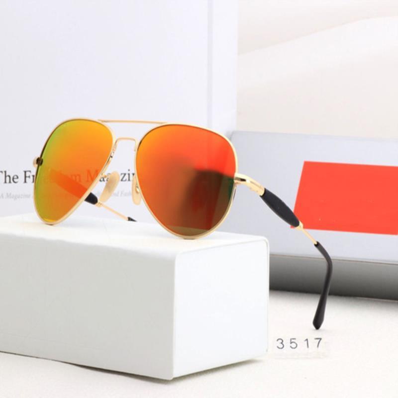 Bans Polarized Luxury Pilot Солнцезащитные очки Женщины Мужчины Ray С УВ400 Очки Солнцезащитные Очки Очки 3517 Металлическая Поляроидная Линза Коробка Дизайн Рамка Arnxm