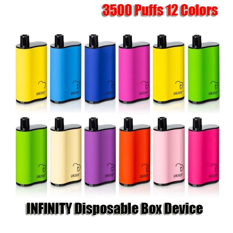 INFINITY MONUSTABLE E Sigarettes Box MOD KIT 3500 Sfuffs 1500mAh Batteria 12ml Cartridge Preried Cartridge POD VAPE PEN VS Air Bar Max Flex