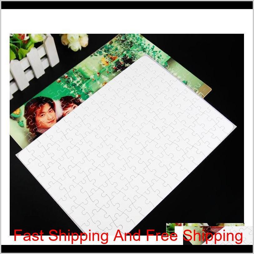 Blanc avec fournitures Jigsaw Puzzle N5TDI 120 pièces WEOBF Heabf Heat O3YCD Presse Crafts Office School A4 Transfert Sublimation DIY TNSVO