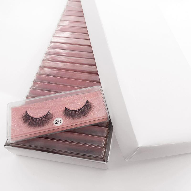 Großhandel Mink Wimpern 3D Mink Wimpern Natürliche falsche Wimpern gefälschte Wimpern Make-up Falsche Wimpern in der Masse