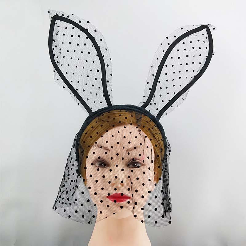 Parti Favor Cadılar Bayramı Kostüm Doğum Günü Düğün Kulakları Kafa Dantel Göz Maskesi Siyah Beyaz Kırmızı Pembe