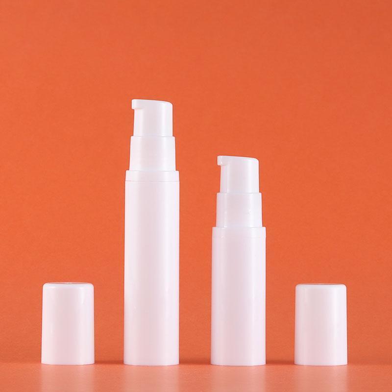 5 ml 10 ml 15 ml de la botella de crema de la bomba de la plantilla de la loción sin aire en blanco para uso cosmético Pulverizador de plástico PERFUMEVIALES