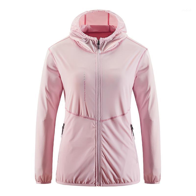Rápido seco anti UV Jacket Mujeres Impermeable Piel Cortavientos Protección solar Ropa para mujer Camping Senderismo Ropa de caza LNGXO1
