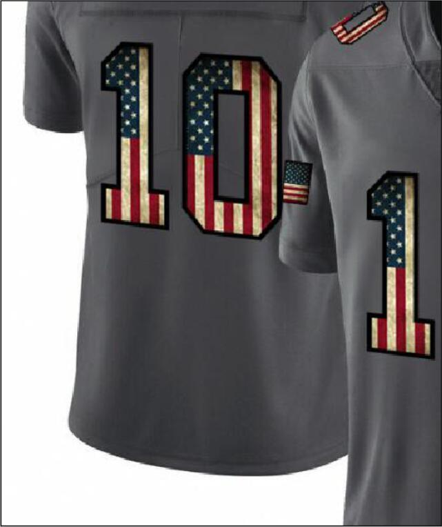 Professional Custom Jerseys SF 10 16 80 85 97 Embroidered Carbon Black Retro Flag Limited Mens American Football Jersey A3