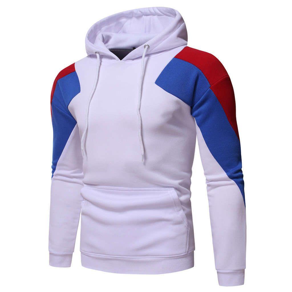 2020 Männer Herbst Langarm Patchwork Hoodies Hohe Qualität Pullover Mit Kapuze Sweatshirt Jersey Hombre de Moda