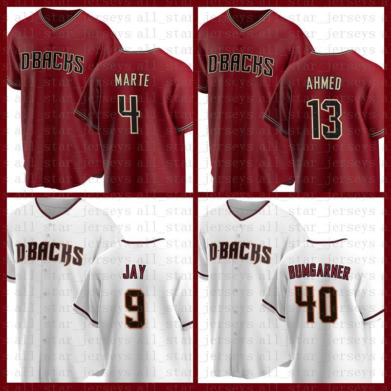 Arizona Baseball Jersey Diamondbacks Personalizzato 51 Randy Johnson 4 Ketel Marte 21 Stephen Vogt 13 Nick Ahmed 5 Eduardo Escobar 59 Jeremy Beaasley