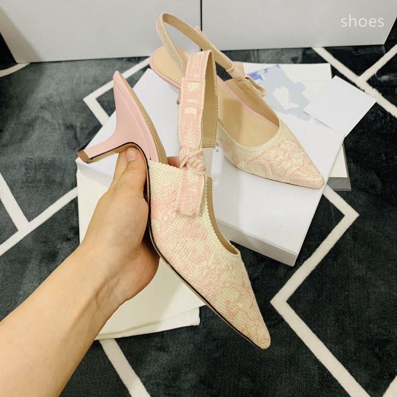O novo 2021 vestido Shoes Party Office Universal High Saltos Moda Versátil Senhoras Sapatos de Designer de Luxo DF2