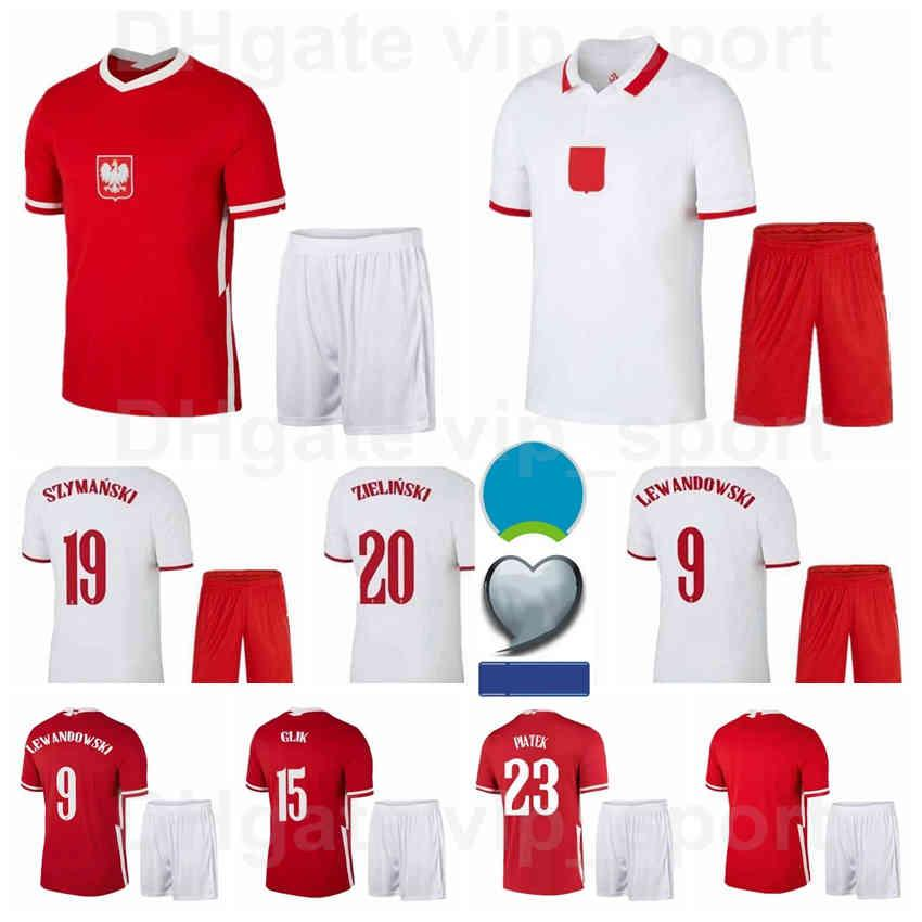 2021-22 Soccer National Team 9 Robert Lewandowski Jerseys Set 7 Arkadiusz Milik 1 Wojciech Szczesny 15 Kamil Glik Home Camisa de Futebol Kits B-L