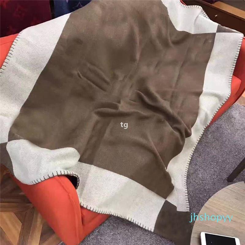 Design Moda Cashmere Cobertor Hotel Inverno Engrossar Cobertor Casa e Viagem Cachecol Xailes Quentes Cobertores Grandes 135 * 165cm H