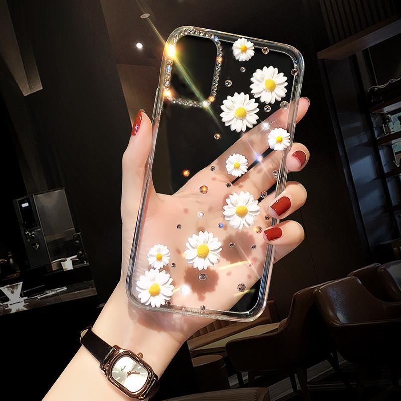 Caso conciso de Chysanthemun para Samsung Galaxy S10 Plus Lite Silicion Case para S20 Estribe Note10Plus S21 Ultra Plus