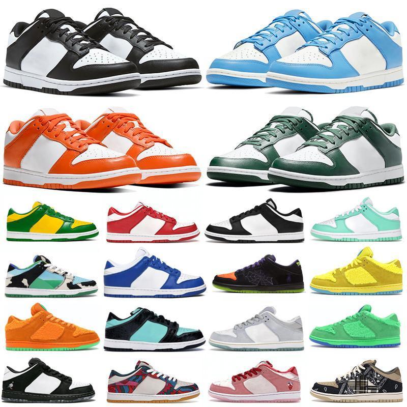 Dunks Mens Bayan Dunk SB Düşük Koşu Ayakkabıları UNC Kıyısı Tozlu Zeytin Tıknaz Dunky Turuncu Inci Yeşil Erik Siyah Beyaz Spor Sneakers Eğitmenler Michigan Kasina Brezilya