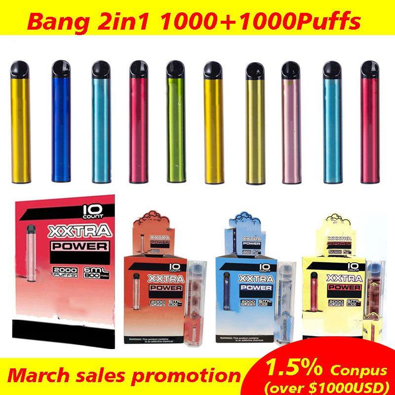 XXL jetable VAPE 2000 Puffs POFF PODS PODS DISPOSITIFS Jetables Local Vape jetable E Cigarettes