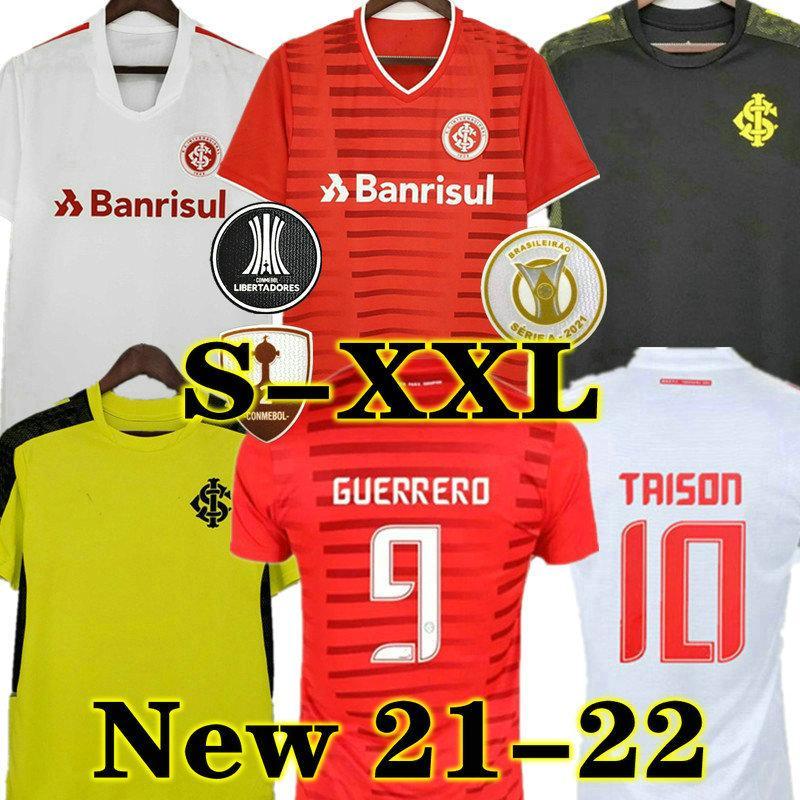 Taison 21 22 Club Internacional Fussball Jersey Rotes Zuhause 2021 2022 Away White Rosa Third Football Hemd Frau N. Lopez d.ALESSANDRO POTTKER TOP