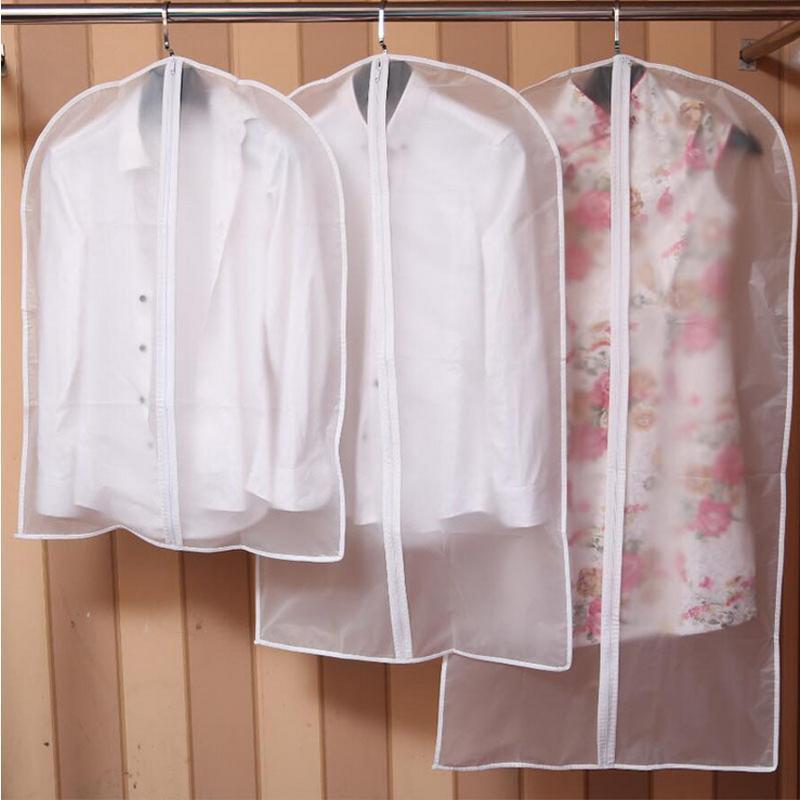 Abiti Appeso Polvere Cover Abbigliamento Abito Vestiti Vestito Cappotto Cappotto Organizzatore Borse Trasparente Armadio Appeso Abbigliamento Borsa