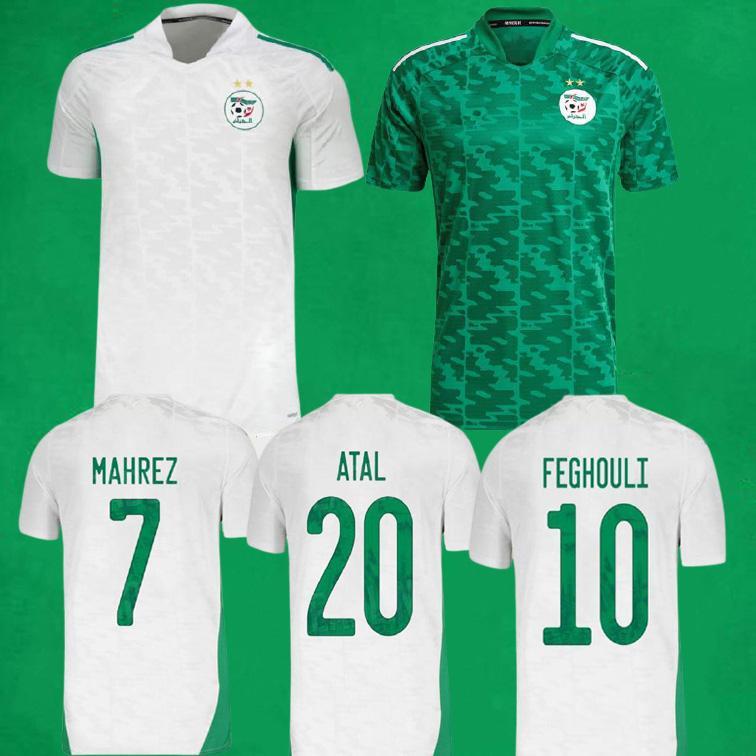 MAILLOT ALGERIE 2021 Algérie Fans Spielerversion Fussball Jersey Mahrez Atal Feghouli Slimani Brahimi Football Hemden Home Away Herren Kids Kits