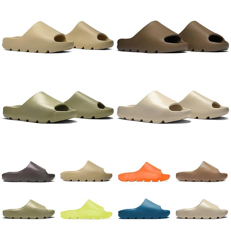 2021 homens mulheres chinelo deserto areia marrom terra slide osso slide resina espuma corredor branco rosa chinelos pretos 36-45
