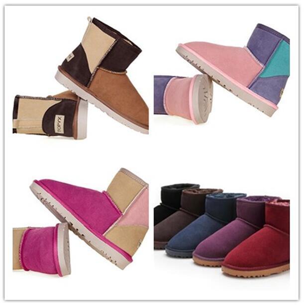 حار بيع أعلى الكلاسيكية النساء 58541 مصغرة الثلوج التمهيد العلامة التجارية شعبية أستراليا جلد طبيعي الأحذية أزياء المرأة أحذية الثلوج
