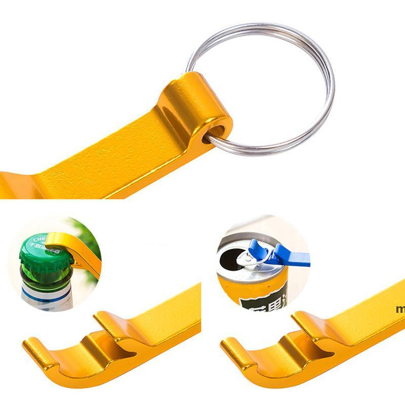 Portable mini Bottle Opener Keychain multi colors Metal Beer bottle can openers home Bar party Tool BWA7338
